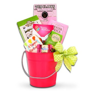 Alder Creek Gift Baskets Happy Birthday Gourmet Bucket