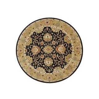 Alliyah Handmade Moon Indigo New Zealand Wool Rug (10' Round)