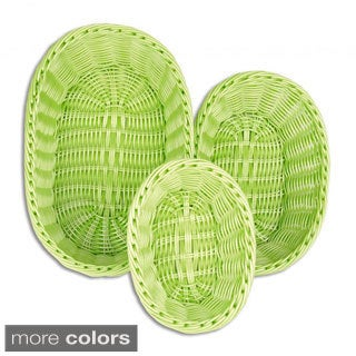 Colorbasket Stacking Oval Basket 3-piece Set