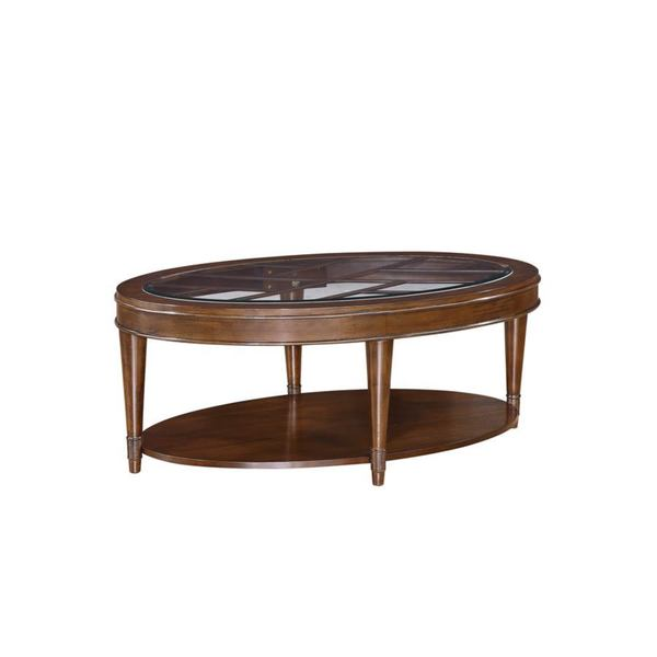 Emerald Transitional Oval Cocktail Table With Glass Top Overstock Shopping Great Deals On