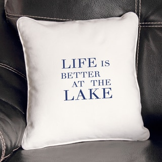 Lake House Throw Pillow