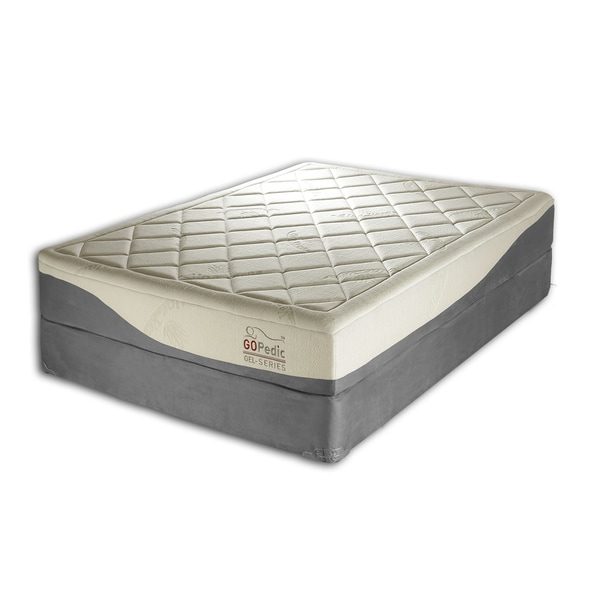Go Pedic 8 inch King-size Gel Memory Foam Mattress
