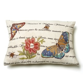 Marine Butterfly Throw Pillow