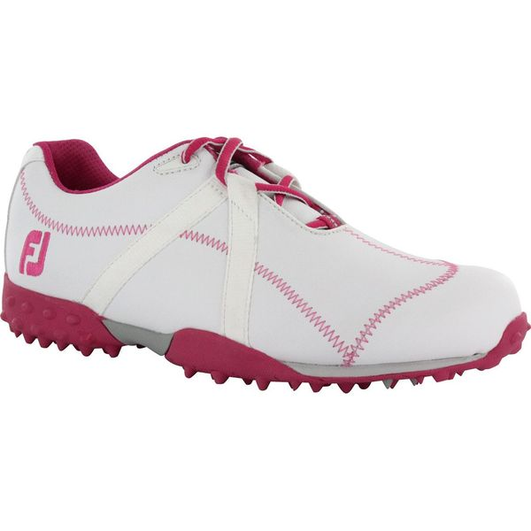 Footjoy Womens M-Project White/ Pink Spikeless Golf Shoes