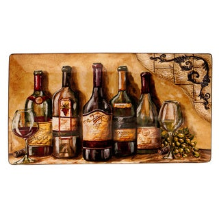 Hand-painted Tuscan View 18-inch Rectangular Platter