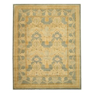 EORC Hand-tufted Wool Green Daniel Rug (5' x 8')