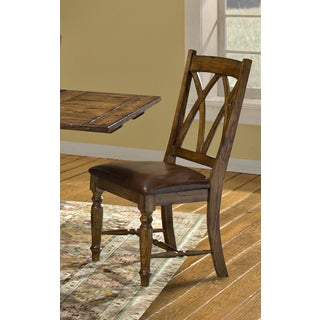 Monastery Solid Dark Planed Knotty Oak Side Chairs (Set of 2)