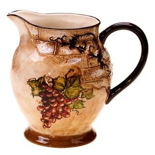 Hand-painted Tuscan View 2.75-quart Pitcher