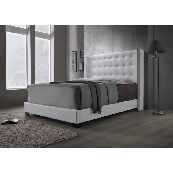 Dg Casa Savoy Wingback White Bed Free Shipping Today Overstock Com