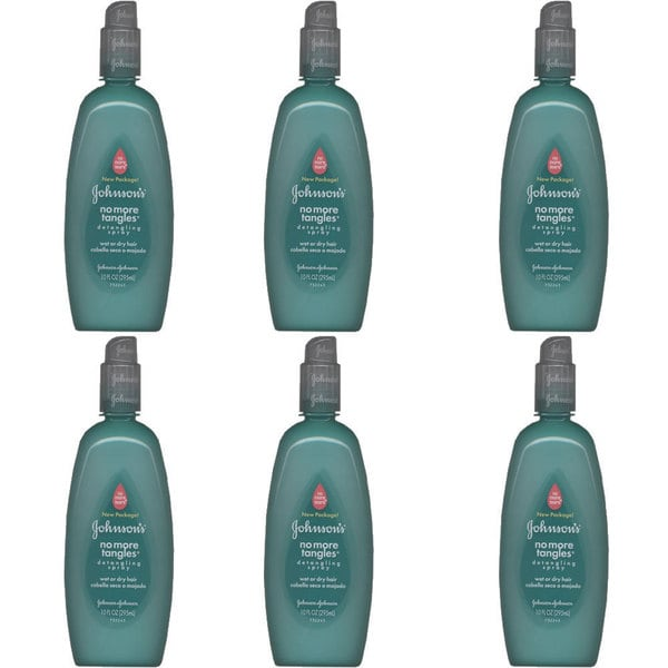 Johnson & Johnson No More Tangles 10-ounce Spray Detangler (Pack of 6)