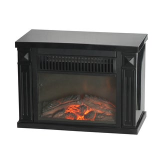 World Marketing EMF161 Black Bookshelf Mini Fireplace