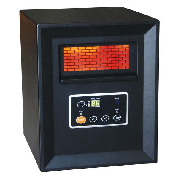 World Marketing QDE1340 Black Compact Quartz Heater