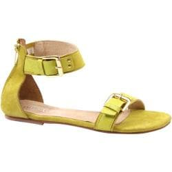 Women's Diba True Car Rah Lime Green Suede/Leather