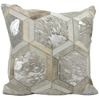 Michael Amini Throw Pillow Grey/Silver 20-inch by Nourison