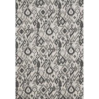 Mida Grey Ikat Polypropylene Rug (8'x11')