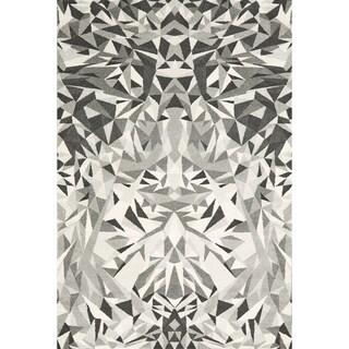 Mida Grey Abstract Polypropylene Rug (8'x11')