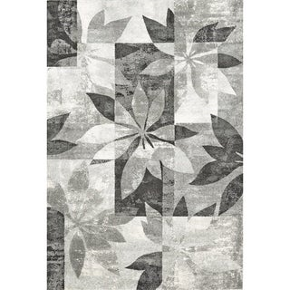 Mida Grey Floral Polypropylene Rug (8'x11')