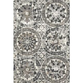 Feizy Mida Grey Geometric Rug (8'x11