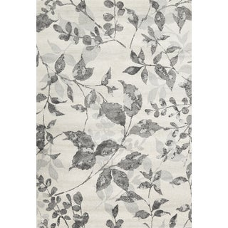 Mida Ash Floral Polypropylene Rug (8'x11')