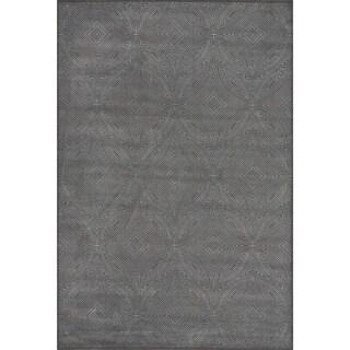 Settat Grey Circle Graphic Wool Area Rug (7'10x11')