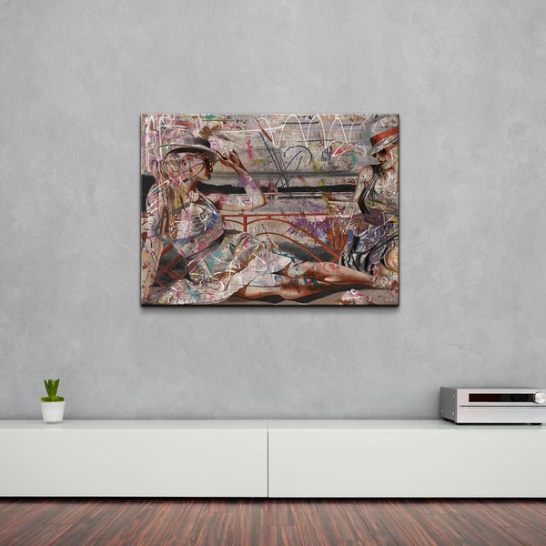 Alexis Bueno 'Lounging Femmes BX III' Canvas Wall Art