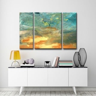 Alexis Bueno 'Abstract Landsape' 3-piece Canvas Wall Art