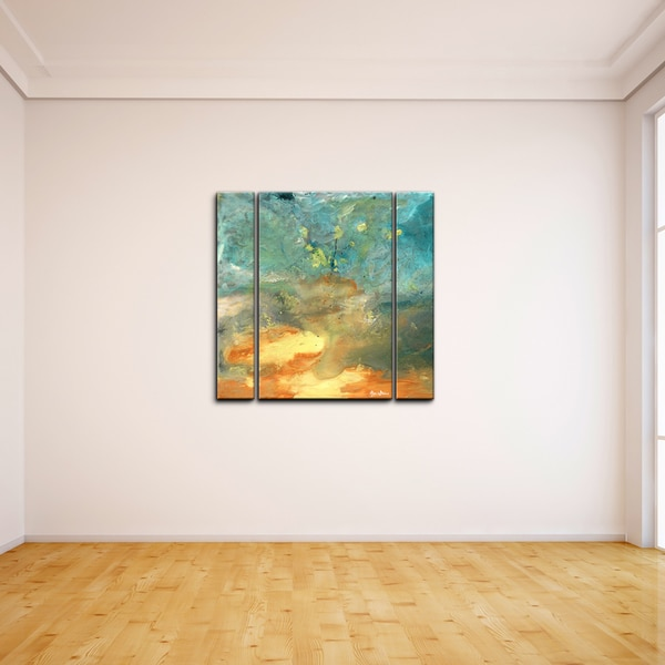 ready2hangart 39 abstract landscape 39 3 piece canvas wall art. Black Bedroom Furniture Sets. Home Design Ideas