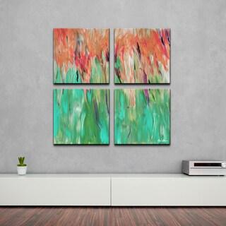 Alexis Bueno 'Abstract Landsape' 4-piece Canvas Wall Art
