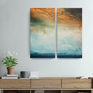 Alexis Bueno 'Abstract BXXVI Landsape' 2-piece Canvas Wall Art
