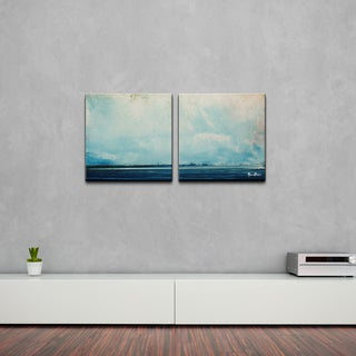 Alexis Bueno 'Abstract Landsape' 2-piece Canvas Wall Art