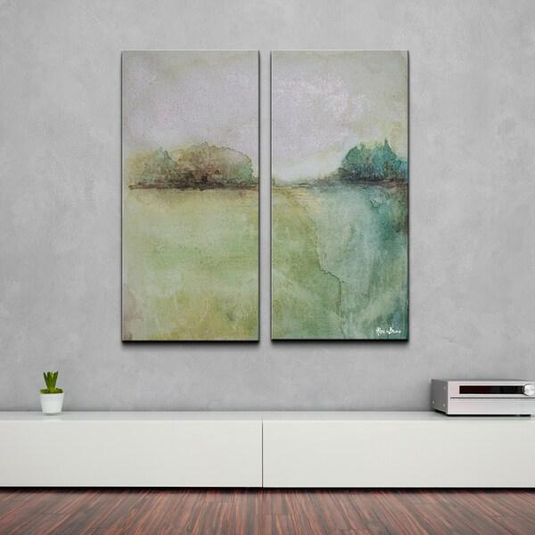 Alexis Bueno 'Abstract BXXVII' 2-piece Canvas Wall Art