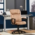 Serta Light Beige Microfiber Executive Office Chair