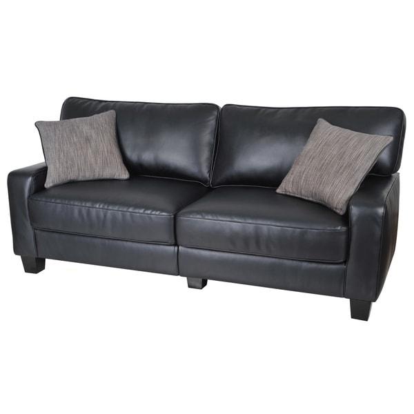serta santa rosa collection smooth black bonded leather. Black Bedroom Furniture Sets. Home Design Ideas