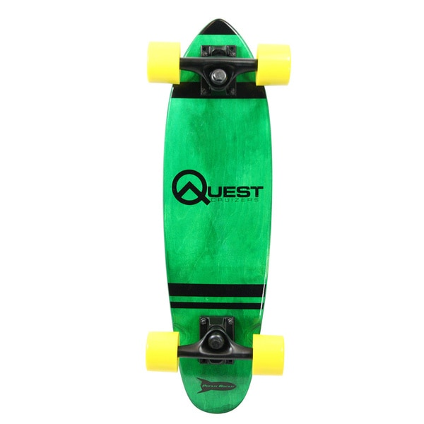 Quest Green Pockit Rockit Cruizer 24-inch Skateboard