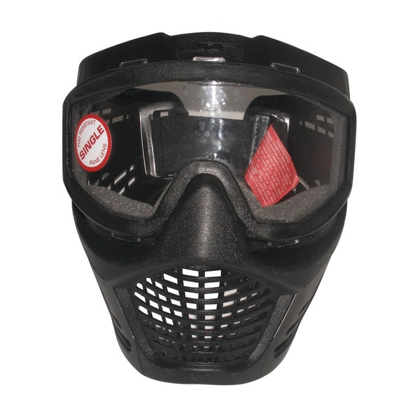 JT Guardian Single Lens No Fog Paintball Airsoft Goggles System Mask Visor Black