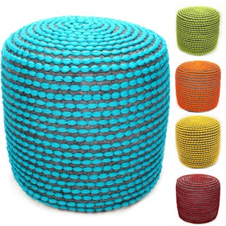 nuLOOM Handmade Casual Living Pouf