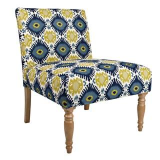 Portfolio Niles Blue-Green Geometric Burst Armless Chair