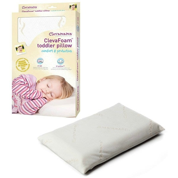 Clevamama ClevaFoam Toddler Pillow in White
