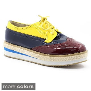 FFC New York Women's 'Clipper' Colorblocked Wedge Oxfords