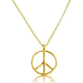Belcho Peace Symbol Pendant Chain Necklace