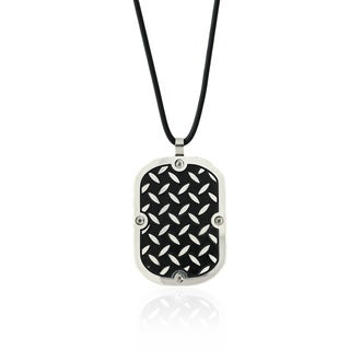 Gravity Stainless Steel Men's Steel Plate Dog Tag Pendant Necklace