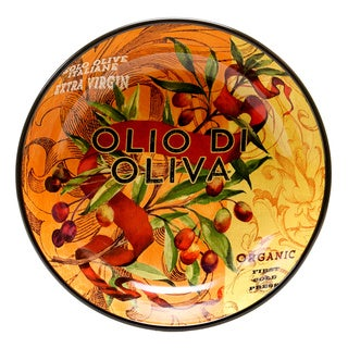 Hand-painted Oli Di Oliva 13.25-inch Ceramic Serving Bowl