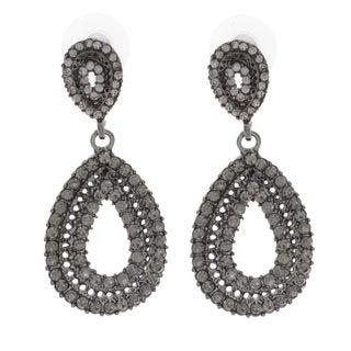 NEXTE Jewelry Black On Black Stone Dangle Earrings