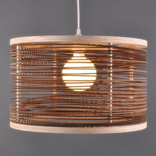 Spaced Cardboard Hanging Drum Light