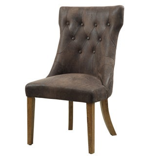 Parkins Coffee Brown Side Chair (Pack of 2)