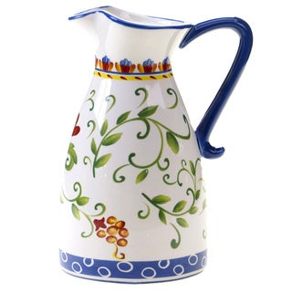 Hand-painted Amalfi Pitcher 3-quart Ceramic Pitcher