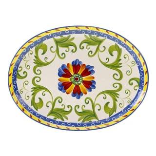 Hand-painted Amalfi Oval Serving Platter