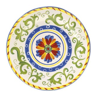 Hand-painted Amalfi 13-inch Round Serving Platter