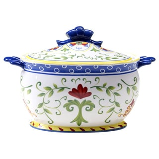 Hand-painted Amalfi 3-quart Ceramic Lidded Soup Tureen