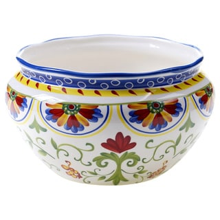 Hand-painted Amalfi 10.75-inch Ceramic Deep Serving Bowl